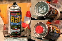 Two components epoxy spray can