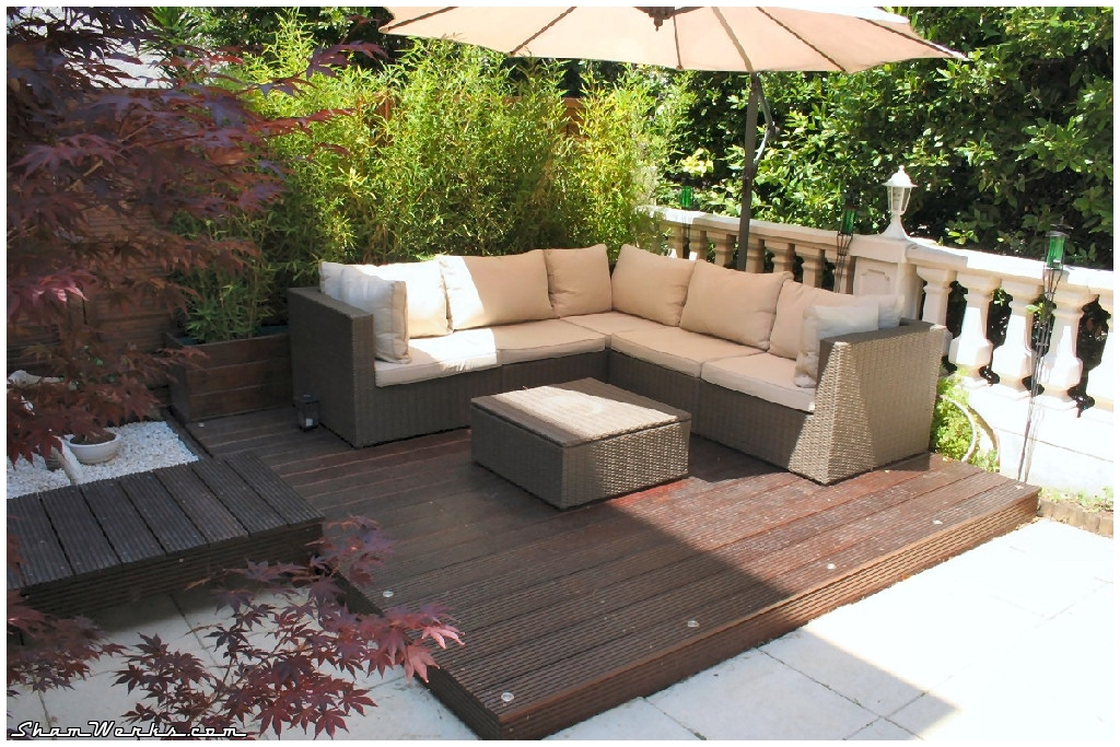 Terrasse zen bambou for Amenagement jardin 200m2