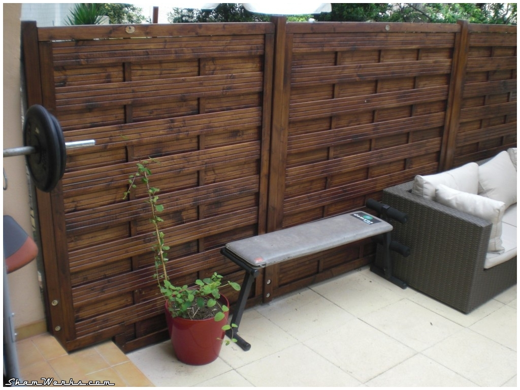 Shamwerks terrace project terrace project wooden fence for Terrasse decoration jardin