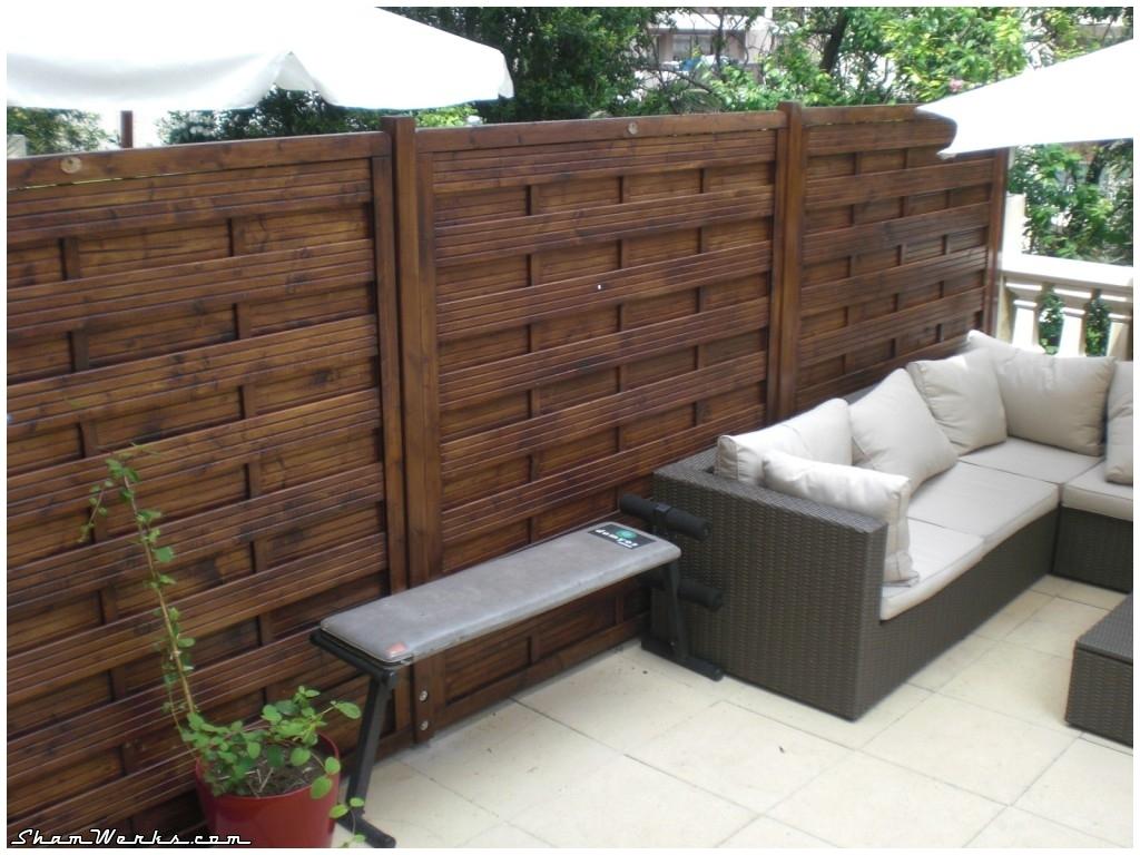 shamwerks terrasse project terrasse project pare vue s paration en bois. Black Bedroom Furniture Sets. Home Design Ideas