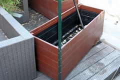 DIY bamboo containers cold tar