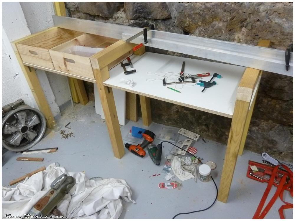 Shamwerks atelier atelier tabli - Etabli castorama bois ...