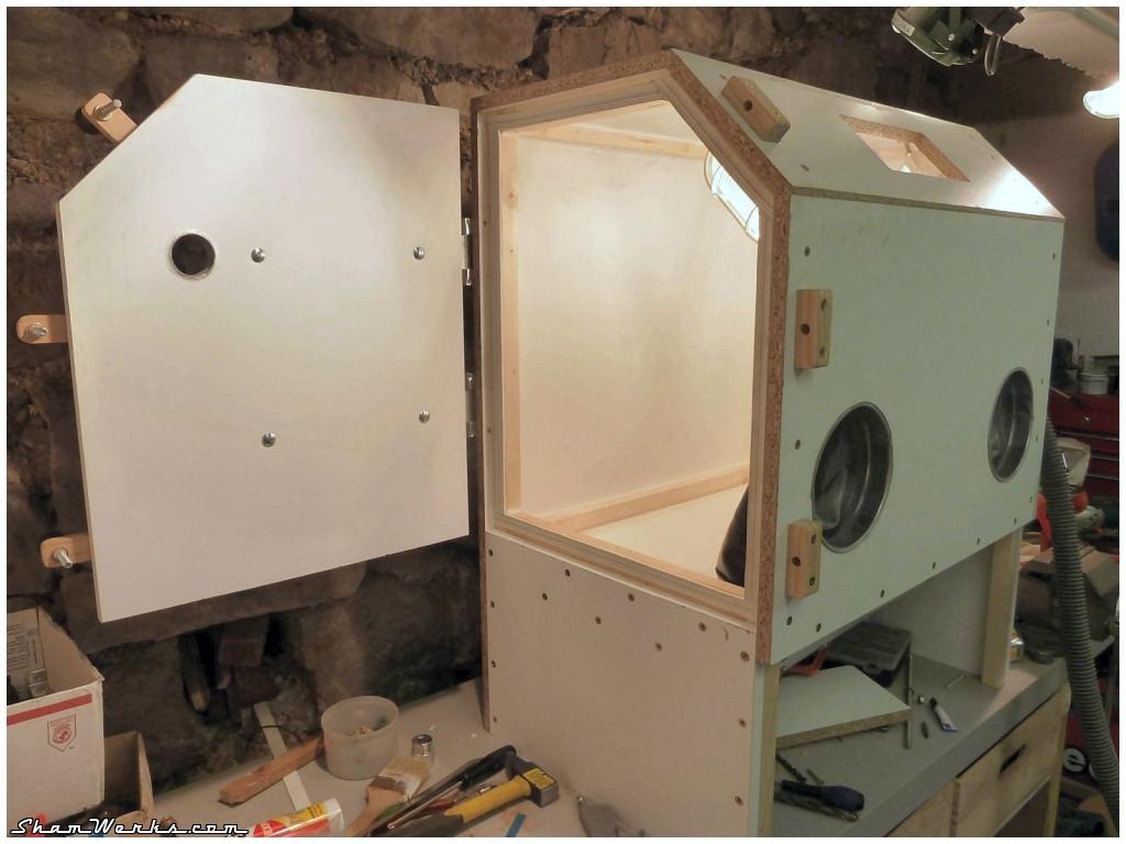 shamwerks workshop workshop diy sandblasting cabinet. Black Bedroom Furniture Sets. Home Design Ideas